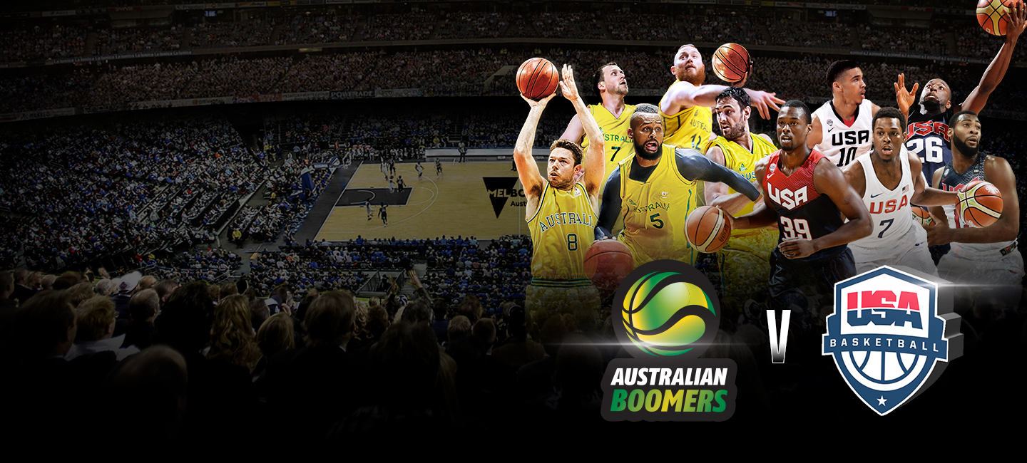 USA Australia Basketball Marvel Stadium dining packages and tickets