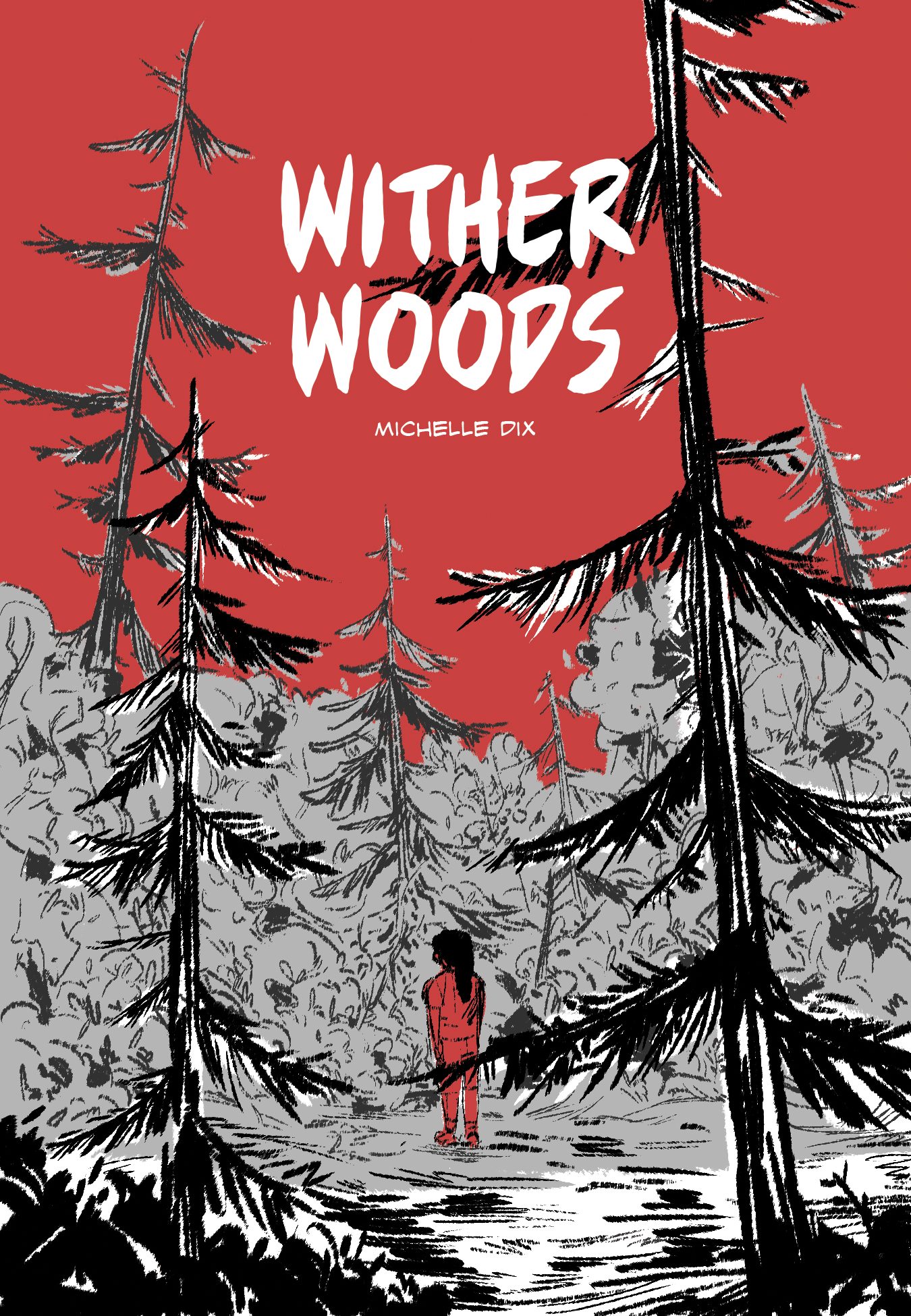 A few pages from my comic WitherWoods, a short horror suspense comic about a witch living in the woods.