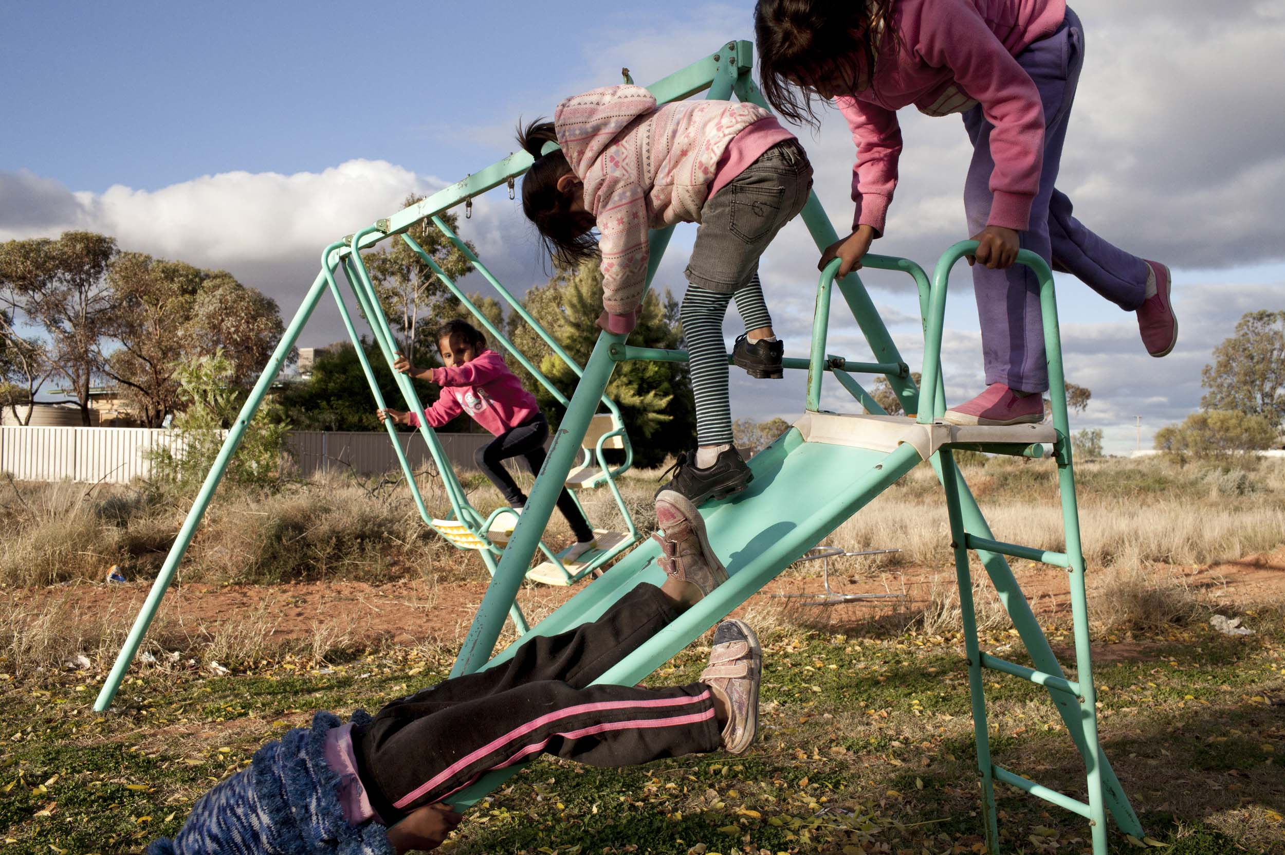 Children at play in Wilcannia, NSW.