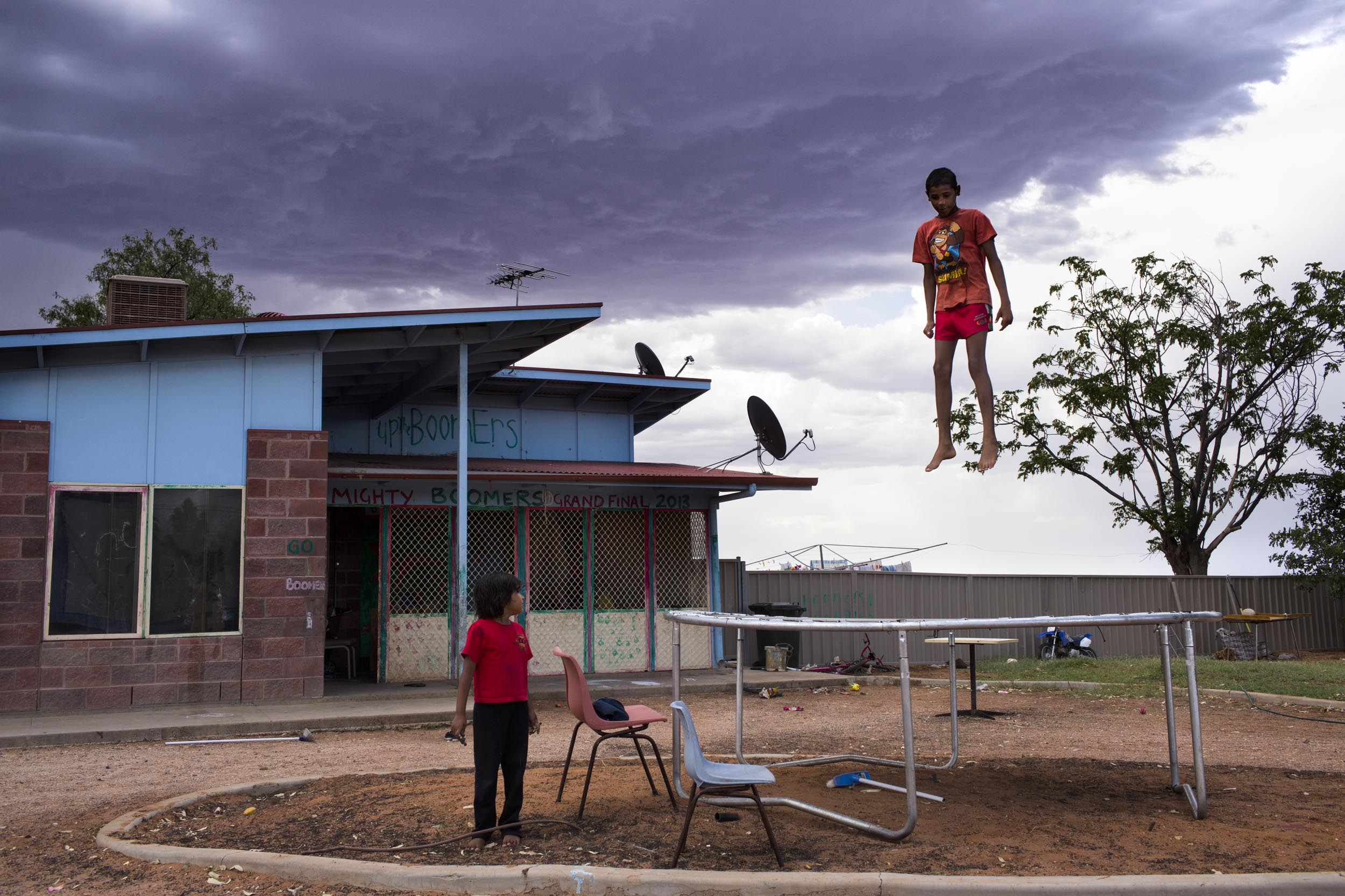 Storm clouds approach in Wilcannia, NSW.