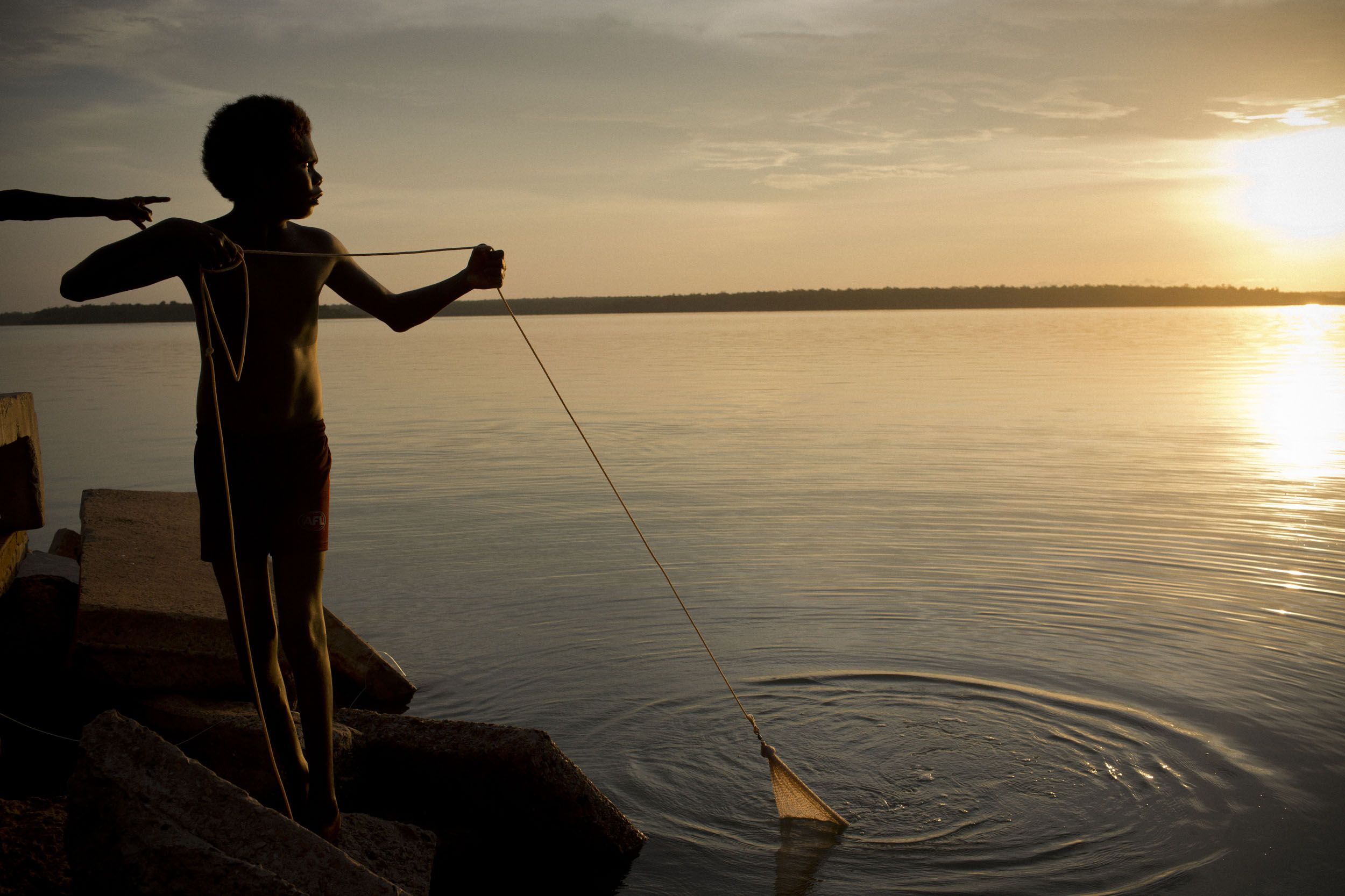 Fishing on the shore of Melville Island, Northern Territory.