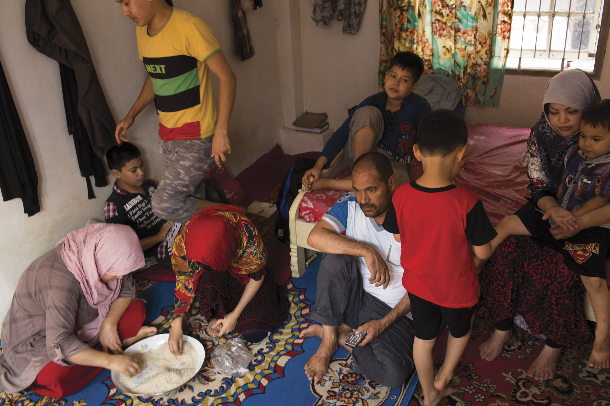 Cisarua, West java, Indonesia. A family of Hazara asylum seekers in Cisarua.
