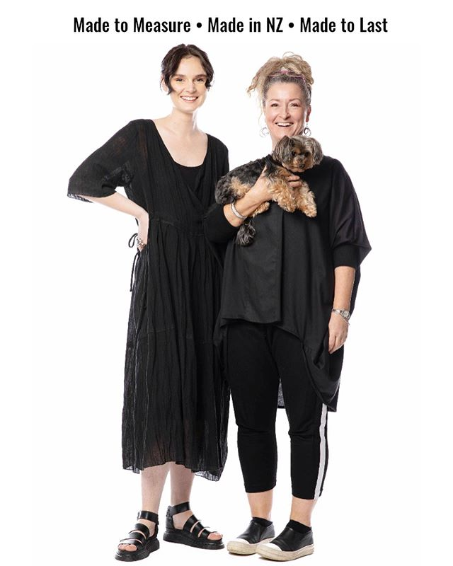 Our Ethos 🖤 Scroll through to see how we work here at The Cupboard.  First image is Lana, one of our store managers and model with Diane, our owner, designer, creator and all-around woman-boss! And of course our CEO Alfie 🐶