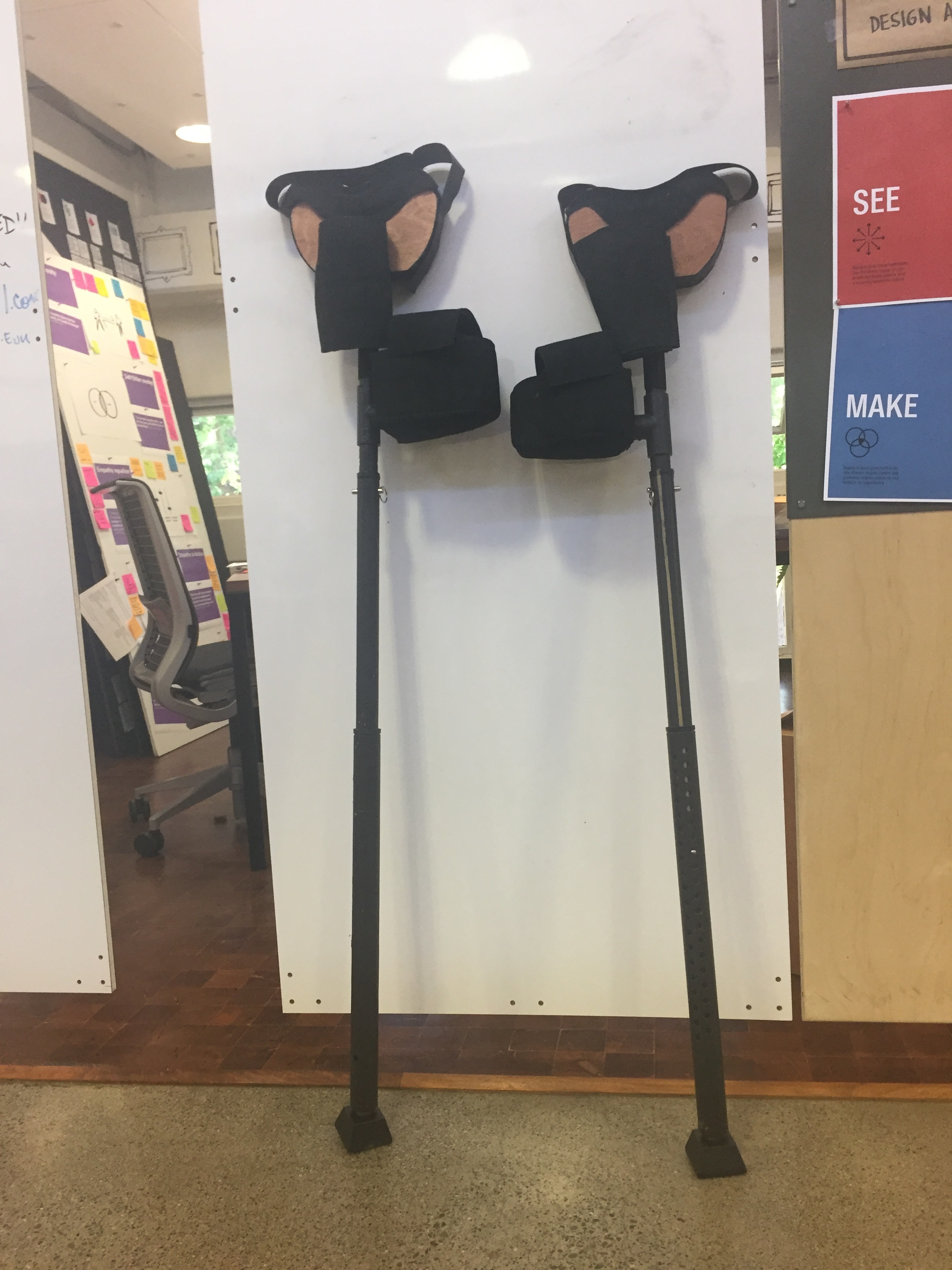 Two crutches
