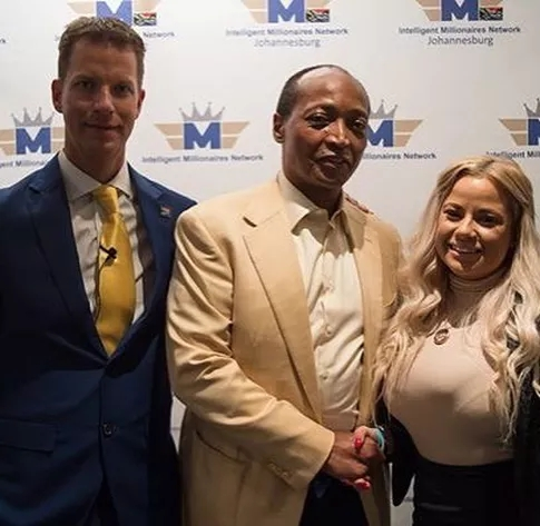 Natalie Riley with JT Foxx, Millionaire Underdog and Serial Entrepreneur, and Patrice Motespe, South Africa's first black billionaire and serial entrepreneur.