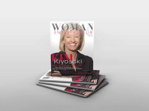 Kim Kiyosaki on the cover of Woman Entrepreneur Magazine