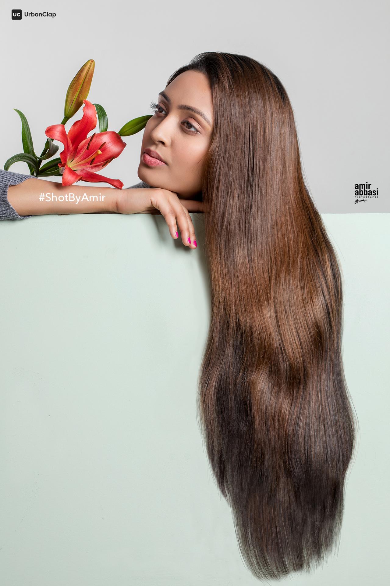 Creative Hair Shot |Model: Arshita Shrivastava |Photograher: Amir Abbasi |Makeup: Govind Gupta