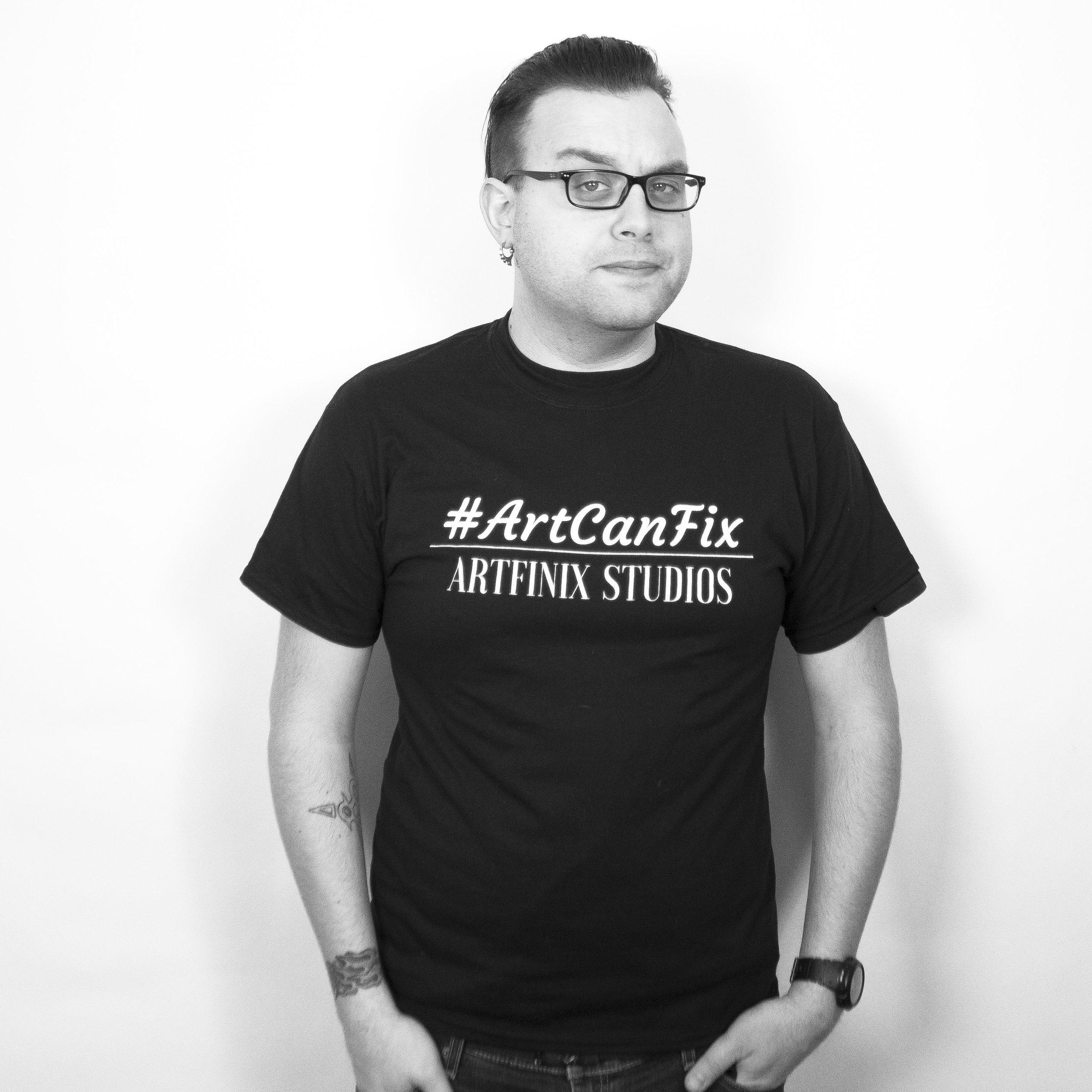 Artfinix Studios - ArtCanFix Pikz - Nick (black and white).JPG