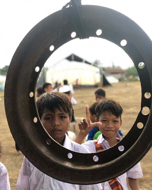 The window to our heart and soul is hope... hope for a beautiful tomorrow filled with smiles and sweetness.  #jailaofoundation #jailaofloodmission2018 #pindongvillagecamp #refugee #children #serve #give #charity #laos #love #hope
