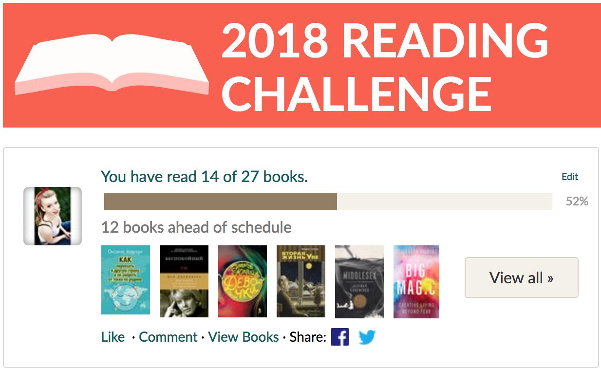 книжный вызов goodreads