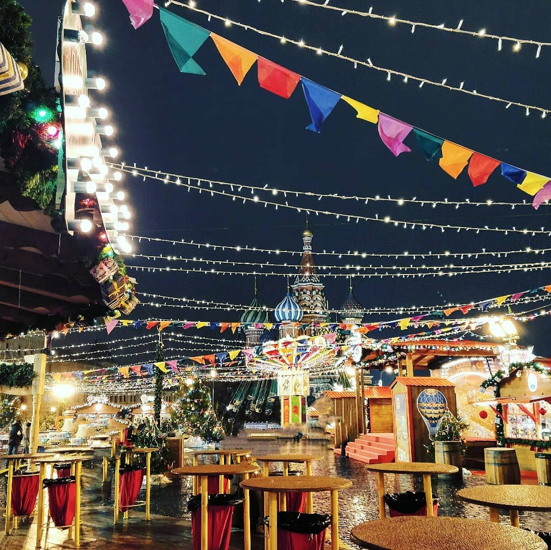 Christmas market in Moscow, 2017