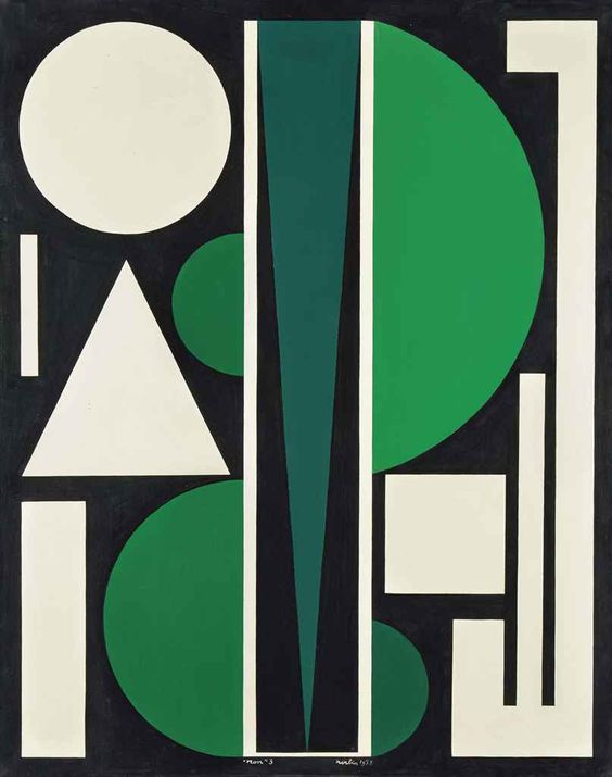 Auguste Herbin (April 29, 1882 – January 30/31, 1960) was a French painter of modern art. He is best known for his abstract paintings consisting of colorful geometric figures. He co-founded the groupsAbstraction-Création and Salon des Réalités Nouvelles which promoted non-figurative abstract art.