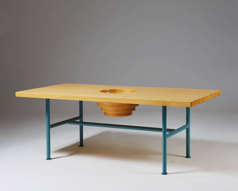 Sofa table designed by Thomas Sandell for Asplund, Sweden. 1995.