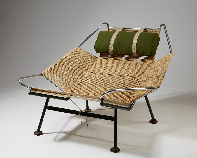 """""""The Flag Halyard Chair"""" designed by Hans Wegner for Getama, Denmark. 1950."""