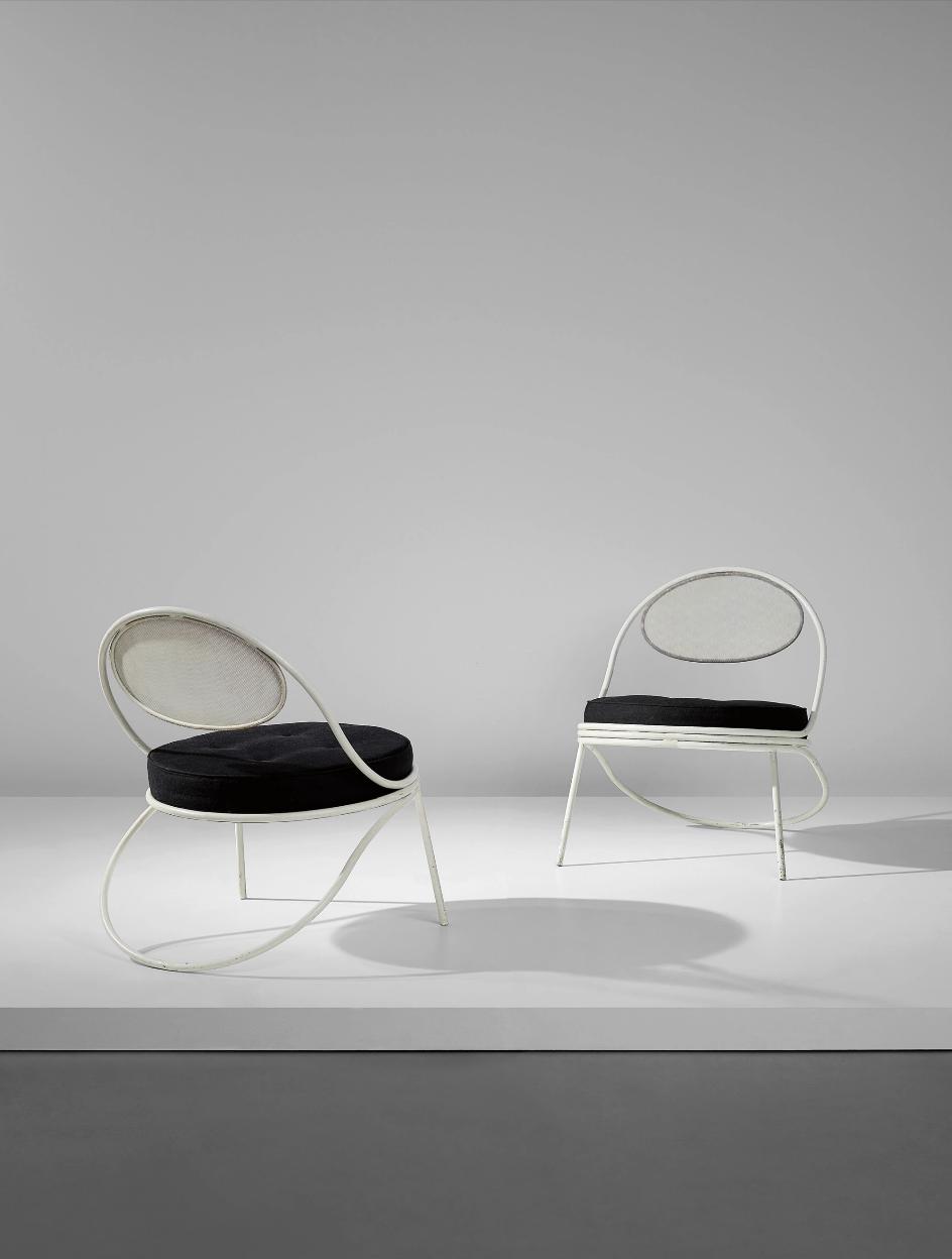 MATHIEU MATÉGOT Pair of 'Copacabana' chairs