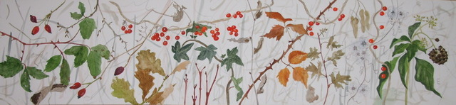 'Hedgewalk  - December' watercolour  19 x 86 cms-001.JPG