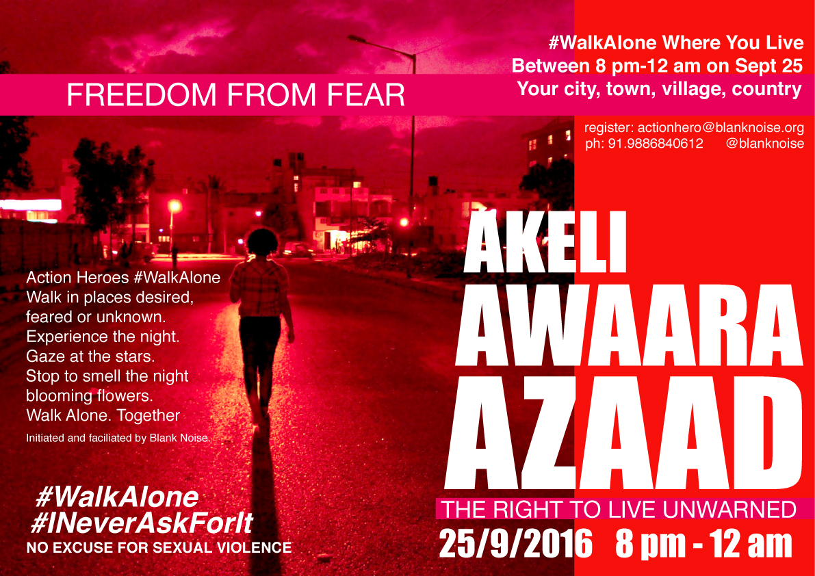 Akeli Awaara Azaad means to be Alone, Unattached and Free.