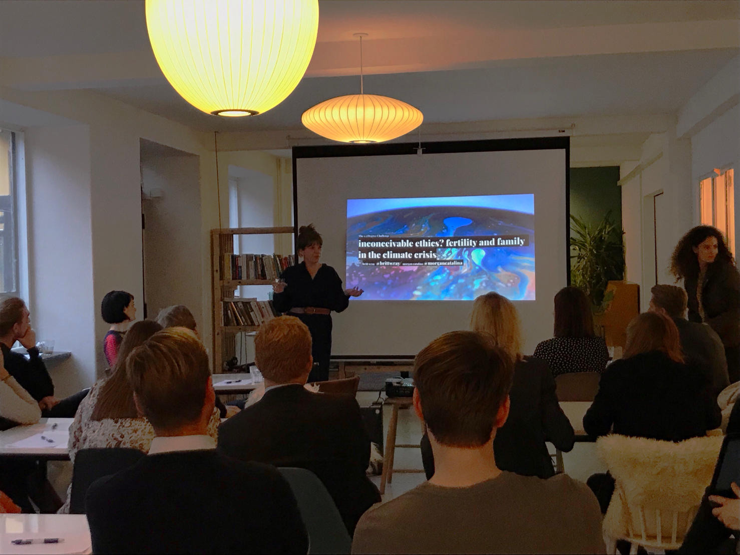 "1.5 Degree Movement workshop ""Inconceivable ethics? Fertility and family in the climate crisis"" in Copenhagen, Denmark."