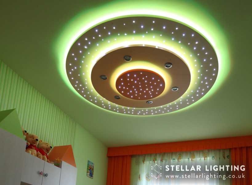 Graduated circle LED STAR CEILING
