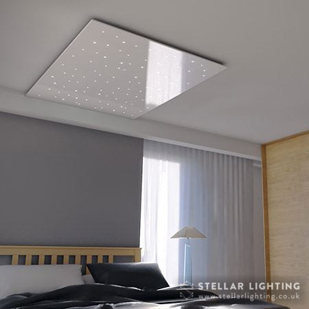 Star ceiling gloss finish - white