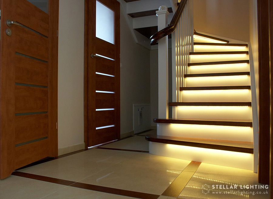 - Integral stair lighting