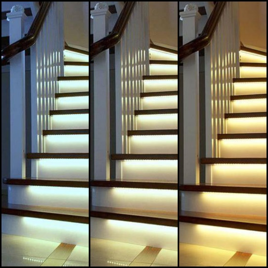 Stair lighting shades of light