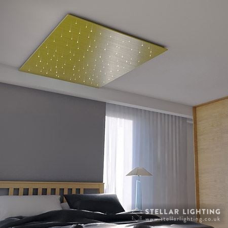 Fibre optic star ceiling in bedroom