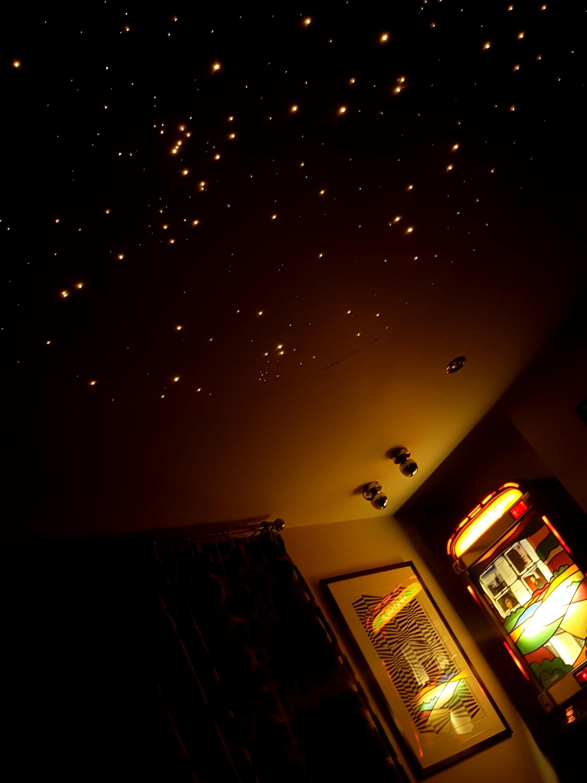 fibre optic star ceiling - mood lighting