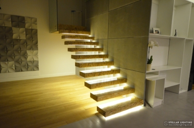 Motion sensor Lights for stairs - all lights On