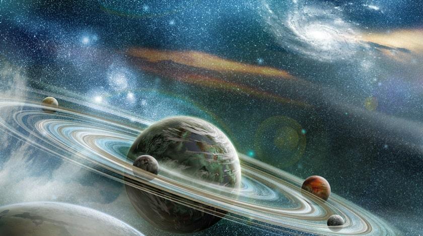 Planetary Rings galaxy star ceiling