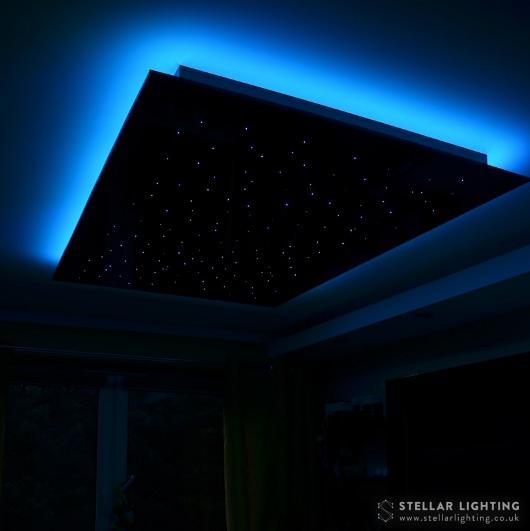 RGB edge lighting set to blue