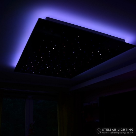 RGB edge lighting set to purple