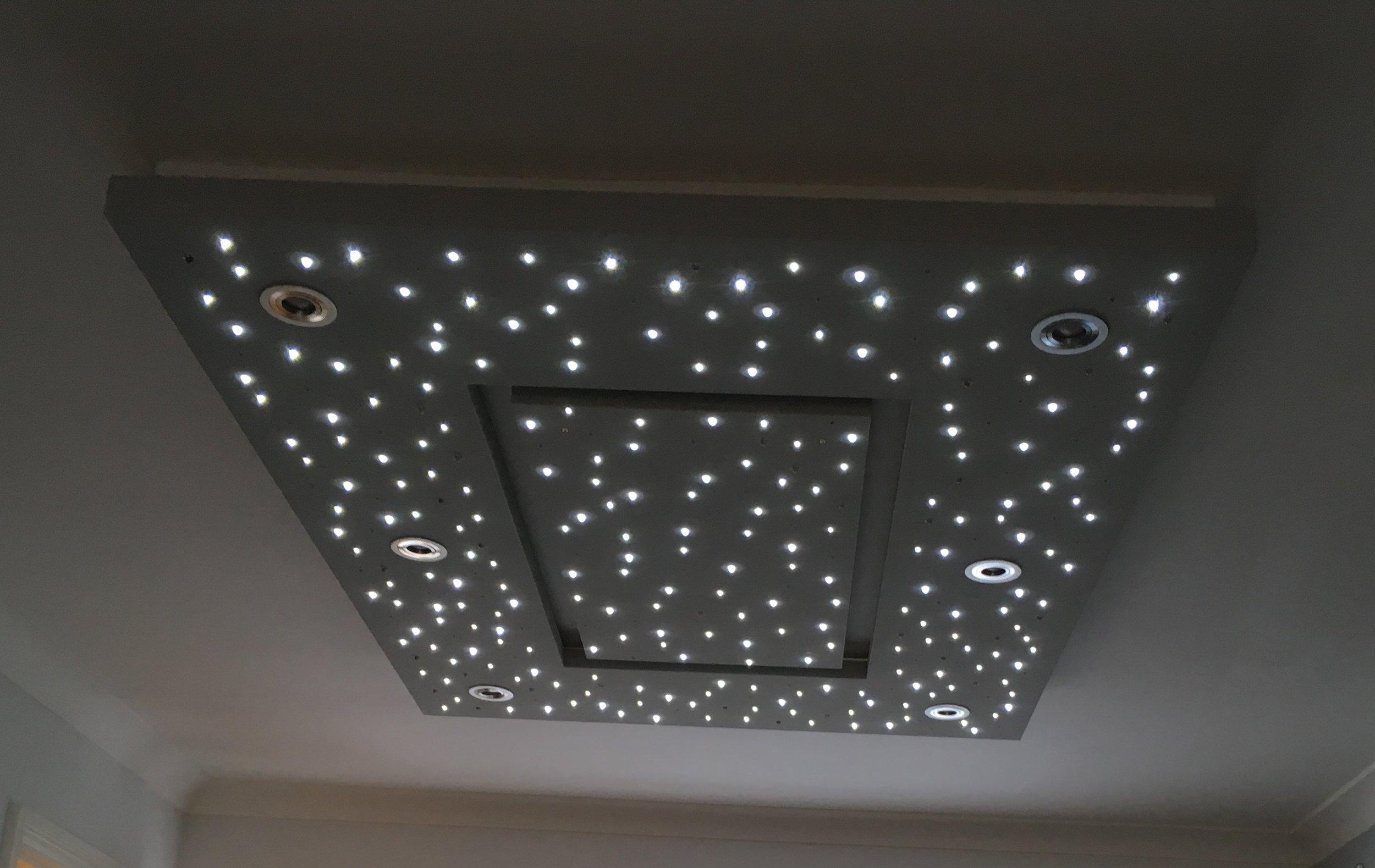 star ceiling in Living room, stars on