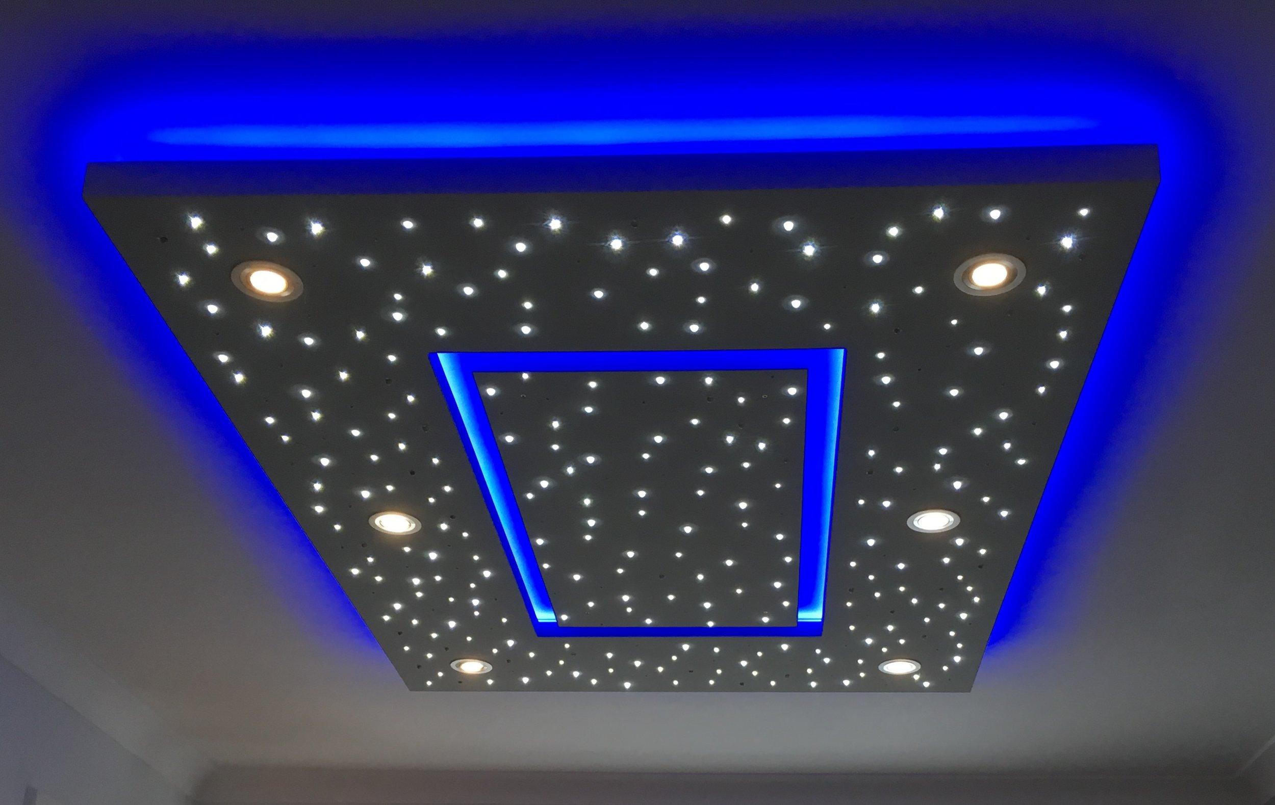 Star Ceiling in Living room, spotlights on