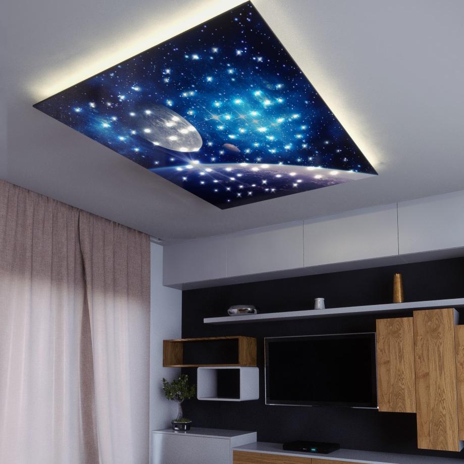 Moonrise design fibre optic star ceiling