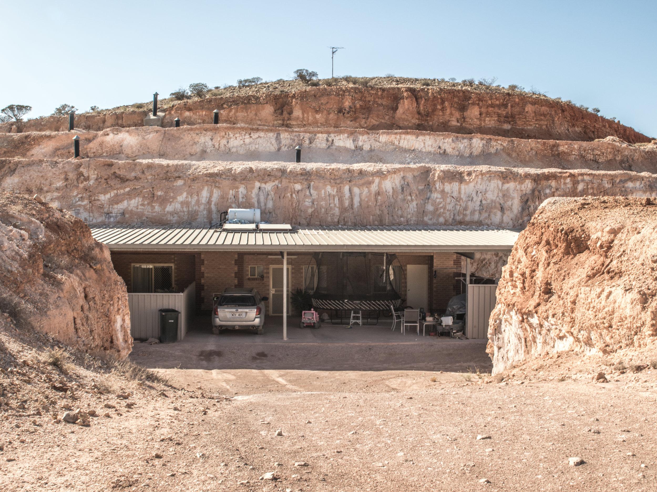 Fachada de una vivienda subterránea en Coober Pedy (Australia). ANA GONZÁLEZ