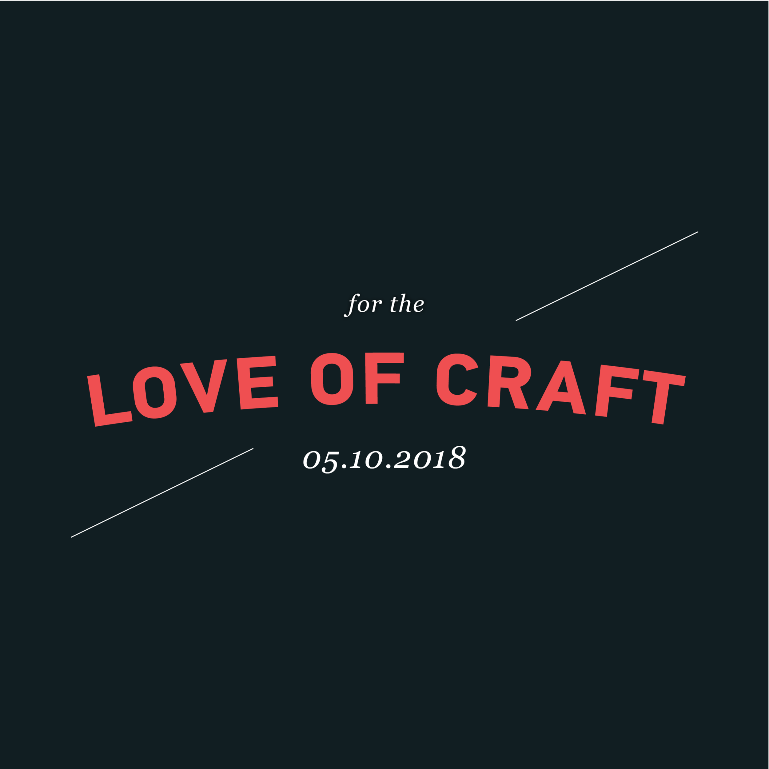For The Love of Craft (event)