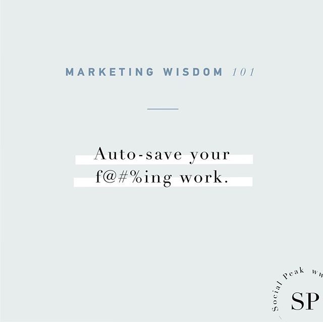 STOP. SAVE. WORK. SAVE. REPEAT 💻  We all tend to overlook the importance of saving our work. A useful trick is to save your file BEFORE you start to work on it, this will also help you name it so that there aren't a cluster of 'untitled' files lying on your desktop.  Got any helpful tricks on #minimalmarketing for us? Let us know your sneaky secrets! 💬 •  #marketing #branding #socialmedia #business #marketingdigital #entrepreneur #startup #digitalmarketing #advertising #entrepreneurship #socialmediamarketing #sales #onlinemarketing #success #empreendedorismo #smallbusiness #marketingtips #seo #networking #hustle #startuplife #businesswoman #entrepreneurs #successquotes #startups #brand #businessman #onlinebusiness #contentmarketing