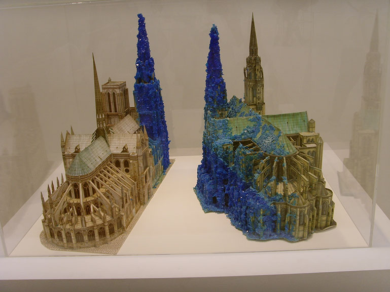 Roger Hiorns Copper Sulphate Chartres And Copper Sulphate Notre Dame 1996