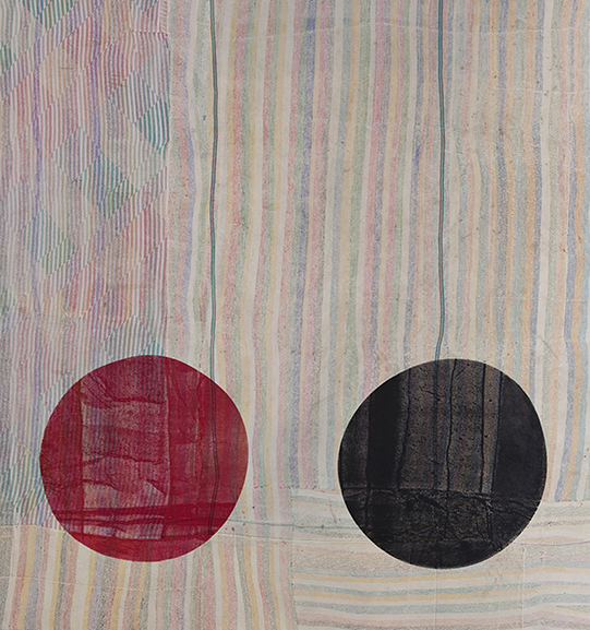 Shezad-Dawood-Textile-40-'YTR-4'-2010-acrylic-on-vintage-textile-225-x-210-cm.jpg