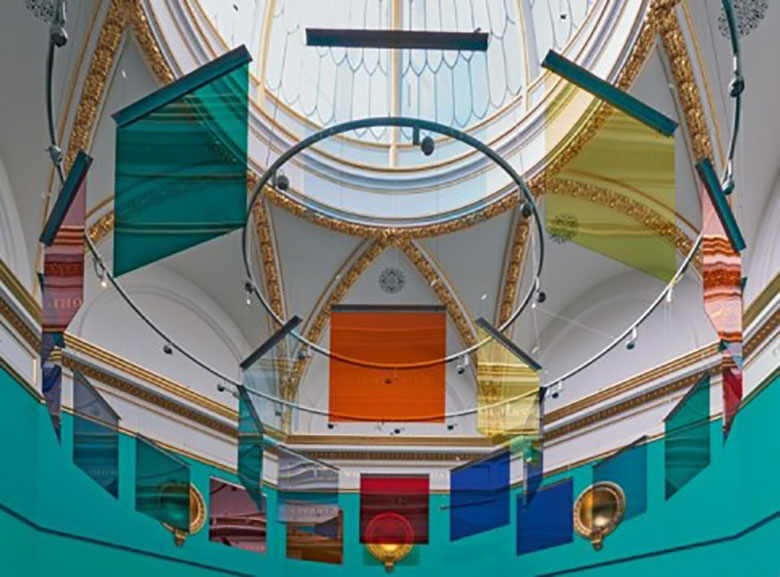 liam Gillick, Applied Projection Rig, courtesy of the Royal Academy of the Arts