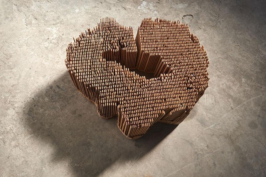 05_Herbert Golser, Untitled, 2014, pear wood, 64x21x55cm, courtesy R osenfeld Porcini