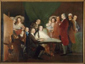 The Family of the Infante Don Luis de Borbón Francisco de Goya 1783-4. © Fondazione Magnani Rocca, Parma, Italy. Courtesy of the National Gallery.