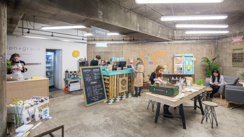 Pollen + Grace & Pact Coffee - Old Street Station. Courtesy of Appear Here