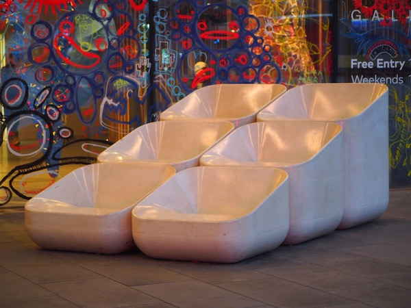 A group of seats in North Greenwich, London