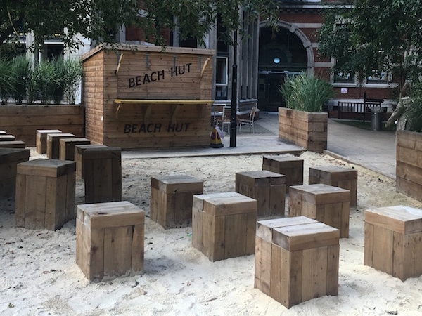 This intimate area has been created in one of King's College campuses in London Bridge