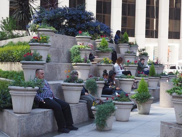Lunch break in San Francisco's financial district