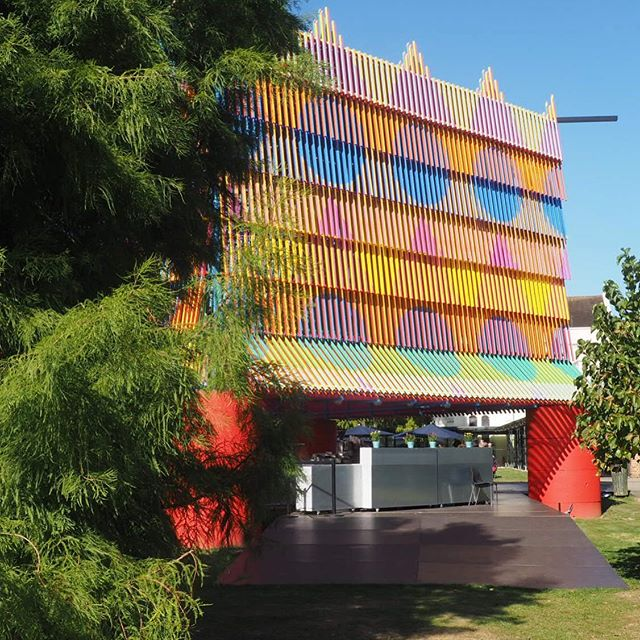The Colour Palace 🌈 built and designed by @pricegore and @yinka_ilori brought so much happiness and colour to the gallery's outdoor space that it is heartbreaking to see it leaving after the weekend.... Such a great public space initiative! ⭐️⭐️⭐️⭐️⭐️. #dulwichgallery #londonparks #publicspace #pavillion #colourful #londonsummer #dulwichvillage #londonarchitects #londondesigner
