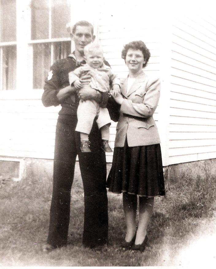 Kate's parents with their first child, David