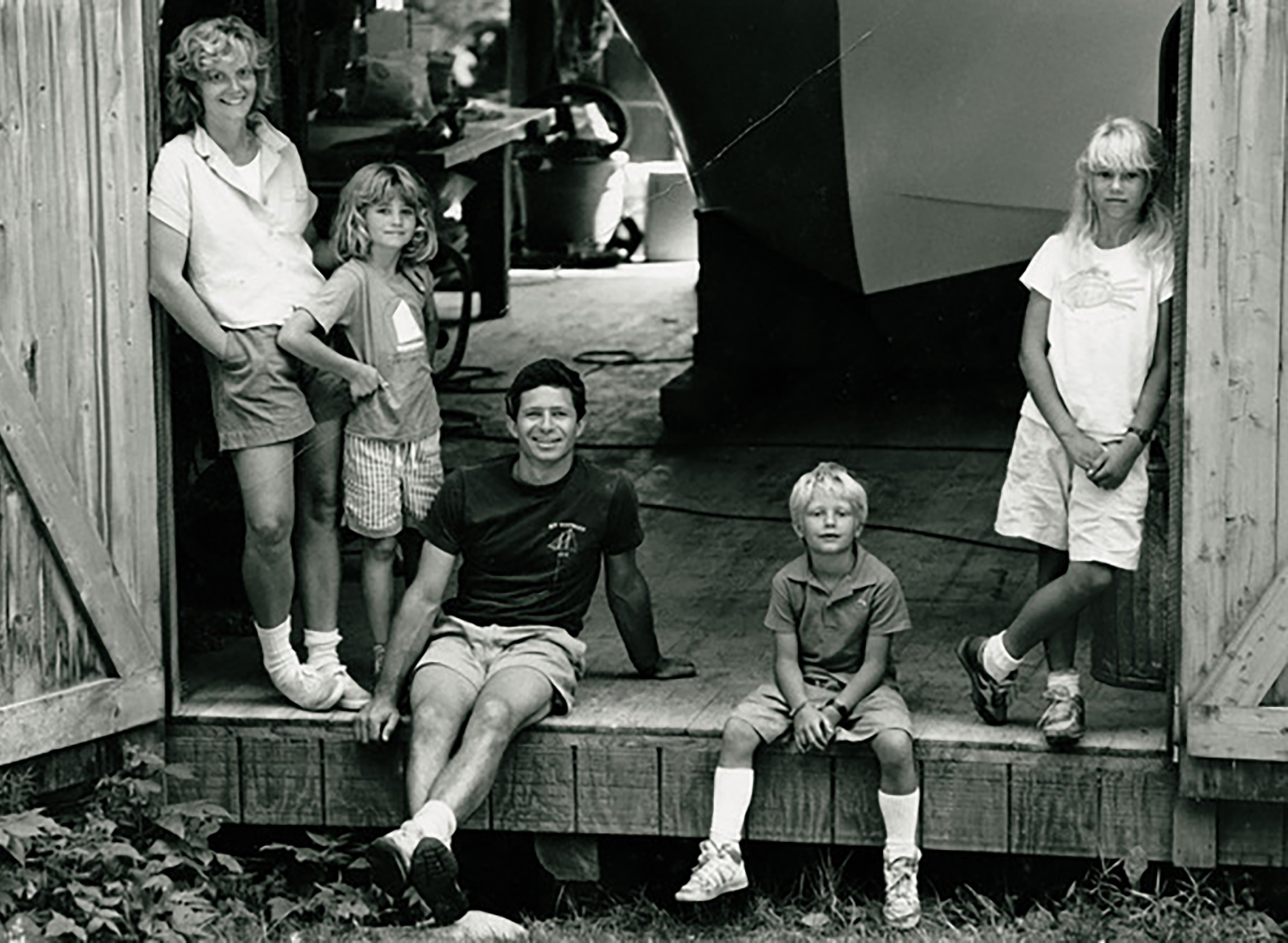 Charlie and Chellie with their three children